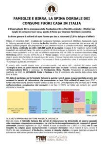 thumbnail of Famiglie e birra la spina dorsale dei consumi fuori casa in Italia
