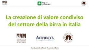 thumbnail of La creazione di valore condiviso del settore della birra in Italia